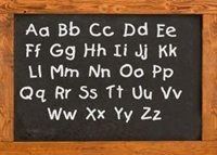 Alphabet on Chalkboard